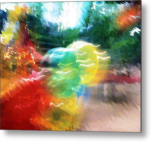 Baloons Metal Print featuring the painting Baloons N Lights by Anil Nene