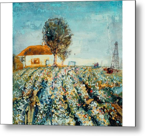 Fields Of Cotton Metal Print featuring the painting Basics Heritage by Helen Musser