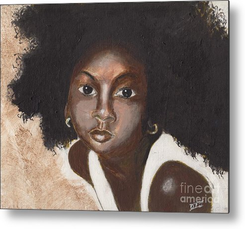Children Metal Print featuring the painting Beauty by David Jackson