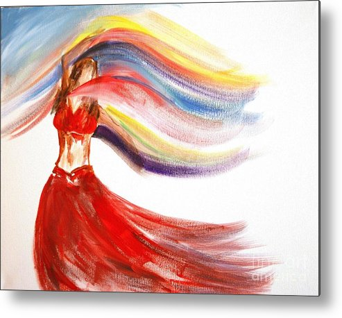 Belly Dancers Metal Print featuring the painting Belly Dancer 2 by Julie Lueders