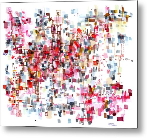 Abstract Metal Print featuring the painting Bittersweet Meanderings by Regina Valluzzi