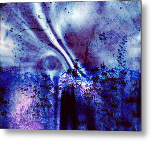 Abstracts Metal Print featuring the digital art Blackest Eyes by Linda Sannuti