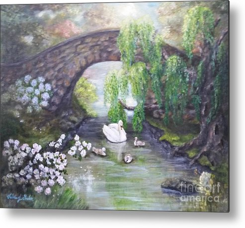 Impressionism Metal Print featuring the painting Blissful Morning by Valerie Gordon