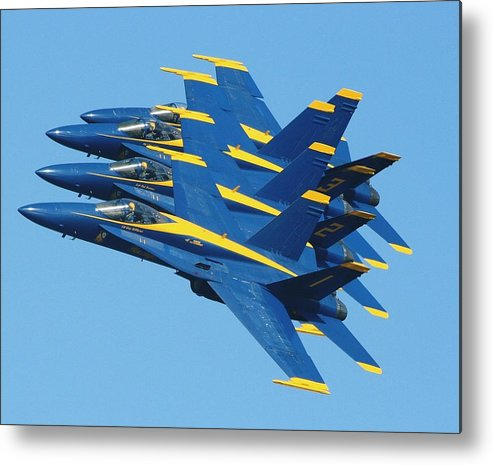 Jets Metal Print featuring the photograph Blue Angels by Melanie Beasley