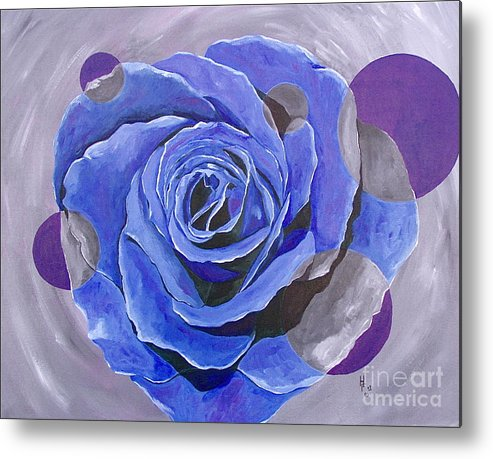Acrylic Metal Print featuring the painting Blue Ice by Herschel Fall