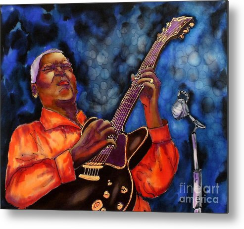 Jazz Metal Print featuring the painting Blues Vibe by Linda Marcille