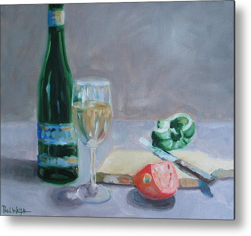 Wine Metal Print featuring the painting Bon Appetite by Paul Walsh