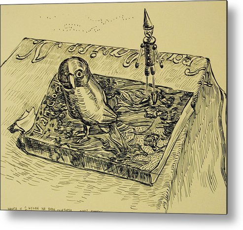 Van Gogh Metal Print featuring the drawing Book And Toys by Vitali Komarov
