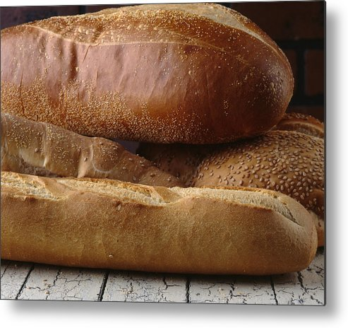 Bread Metal Print featuring the photograph Bread by Jessica Wakefield