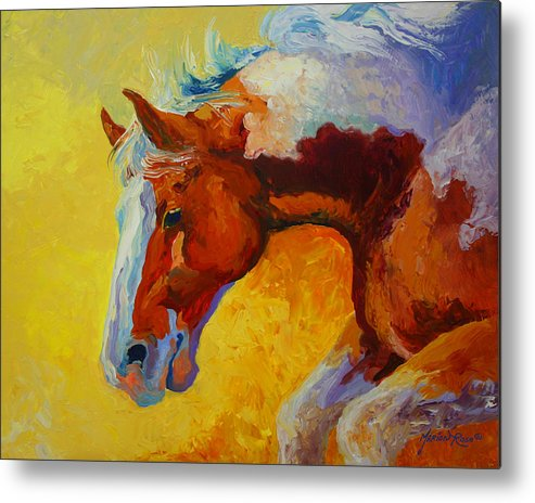 Western Metal Print featuring the painting Bronc I by Marion Rose