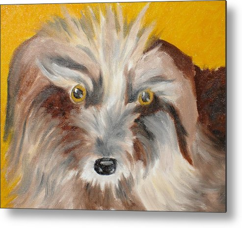Dog Metal Print featuring the painting Cairn Terrier by Susan Kubes