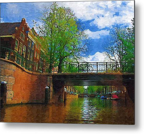 Amsterdam Metal Print featuring the photograph Canals Of Amsterdam by Tom Reynen