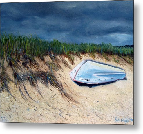 Boat Metal Print featuring the painting Cape Cod Boat by Paul Walsh