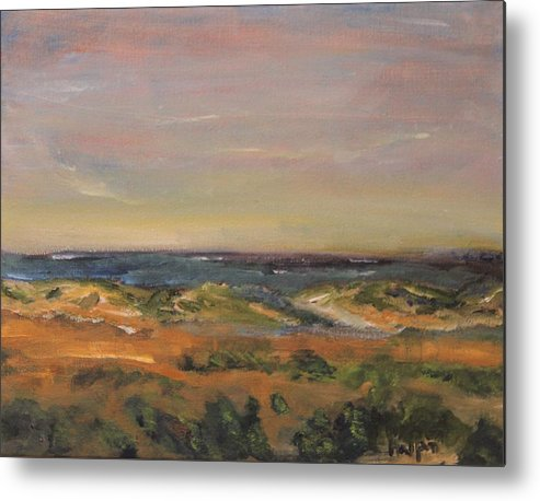 Nature Metal Print featuring the painting Cape Cod Marsh by Michael Helfen