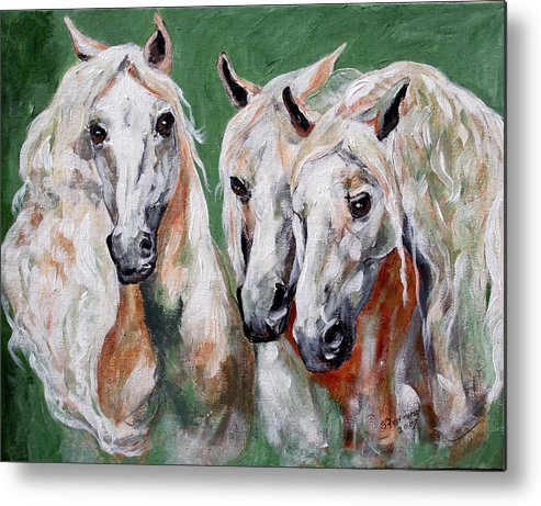 Andalusian Metal Print featuring the painting Cavalia by BJ Redmond