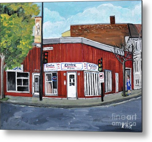 Verdun Metal Print featuring the painting Centre Pizza Verdun by Reb Frost