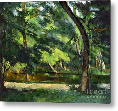 1877 Metal Print featuring the photograph Cezanne: Etang, 1877 by Granger