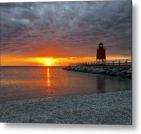 Charlevoix Metal Print featuring the photograph Charlevoix Sunset by Megan Noble