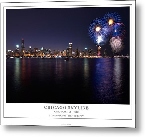 4th Metal Print featuring the photograph Chicago Lakefront Skyline Poster by Steve Gadomski