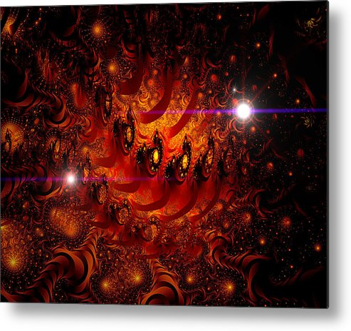 Space Metal Print featuring the digital art Chinese Dragon Galaxy by Roger Soule