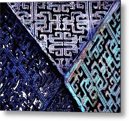 Pattern Metal Print featuring the photograph Chinese Pattern by Danuta Bennett