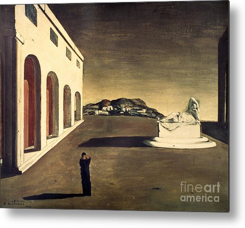 1913 Metal Print featuring the photograph Chirico: Melancolie, 1913 by Granger