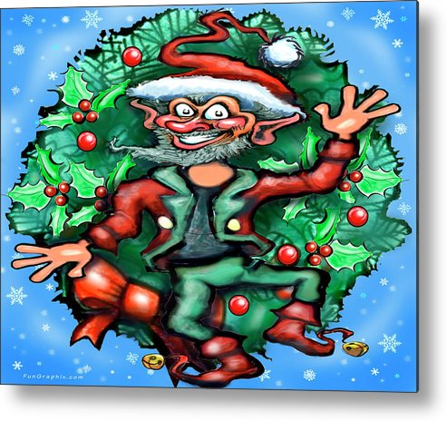Christmas Metal Print featuring the digital art Christmas Elf by Kevin Middleton