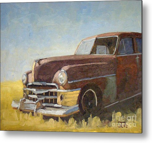 Old Cars Metal Print featuring the painting Chrysler Pre Bailout Days by Tate Hamilton