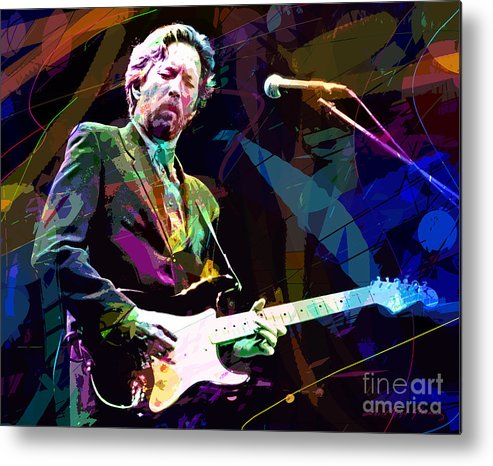 Eric Clapton Metal Print featuring the painting Clapton Live by David Lloyd Glover