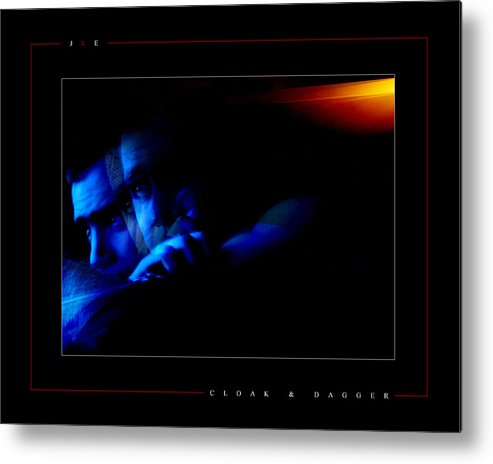 Blue Metal Print featuring the photograph Cloak And Dagger by Jonathan Ellis Keys