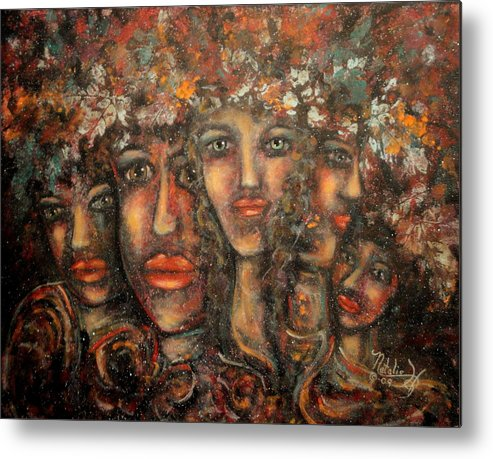 Expressionism Metal Print featuring the painting Close Friends by Natalie Holland