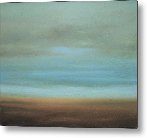 Sky Metal Print featuring the painting Cloud Series 9 by Rebecca Arguello