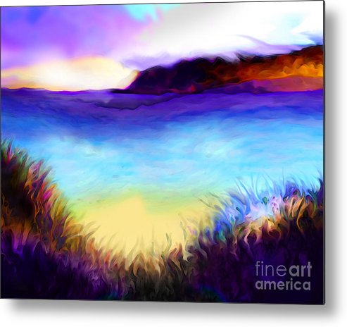 Ocean Metal Print featuring the painting Coastal by Mike Massengale