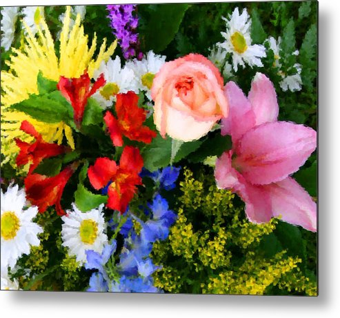 Flowers Metal Print featuring the digital art Color Explosion by Kristin Elmquist