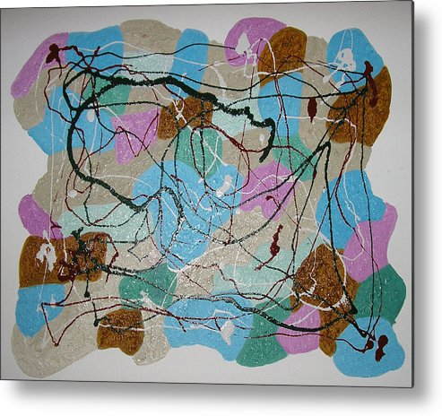 Shapes Metal Print featuring the mixed media Colour And Shapes No 3 by Harris Gulko