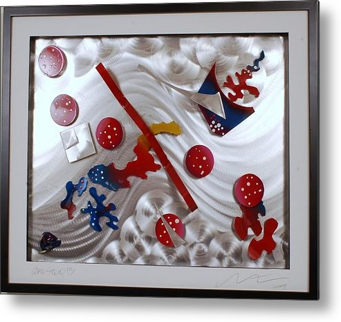 Aluminum Metal Print featuring the sculpture Comic Strip 13 by Mac Worthington