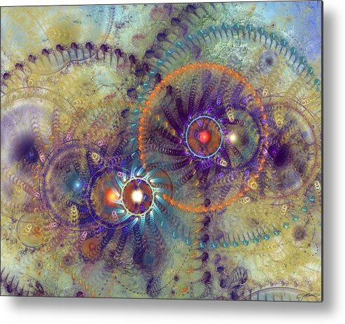 Abstract Metal Print featuring the digital art Complexity Is Worrisome by Casey Kotas