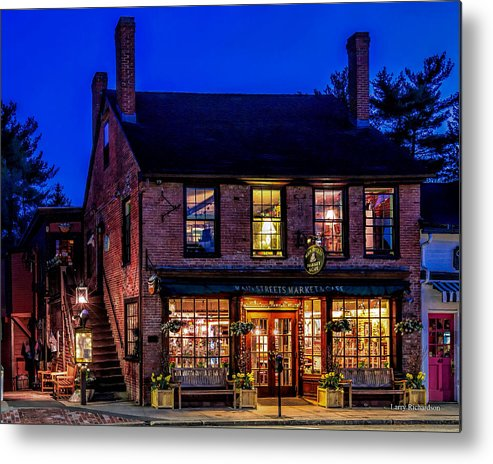Concord Ma Metal Print featuring the photograph Concord Market And Cafe by Larry Richardson