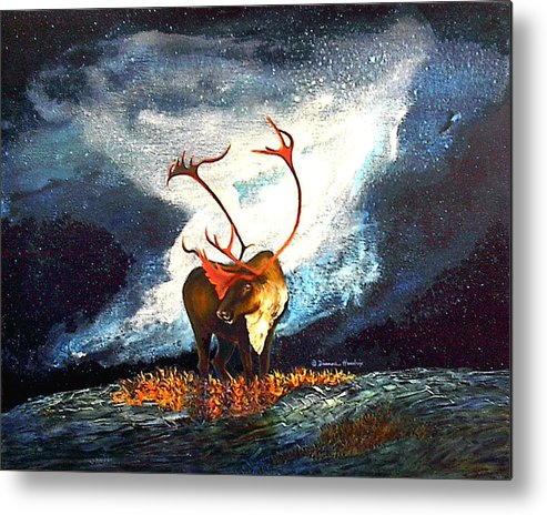 Alaska Metal Print featuring the painting Coy Diffusion by Dianne Roberson