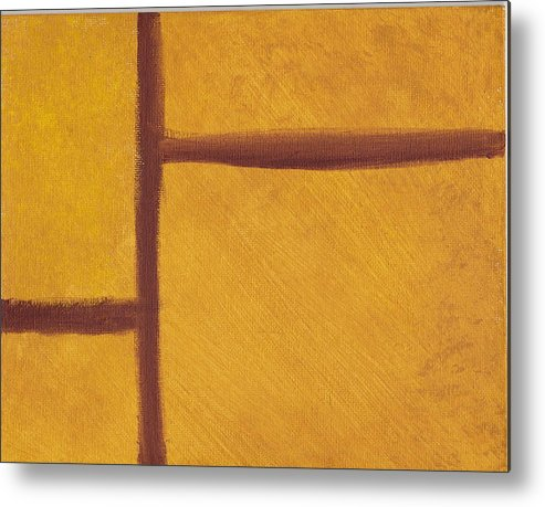 Abstract Metal Print featuring the painting Cross Roads by Susan Rice