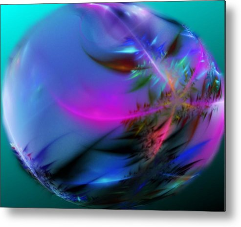 Digital Painting Metal Print featuring the digital art Crystal Egg by David Lane