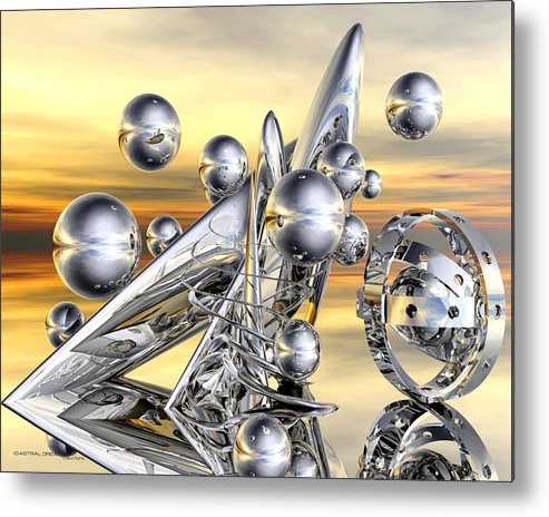 Abstract Metal Print featuring the painting Dakian2 by Dreamlight Creations