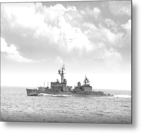 Ship Metal Print featuring the digital art Dd 719 Uss Epperson by Mike Ray