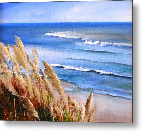 Ocean Metal Print featuring the painting Del Playa by Dorothy Nalls