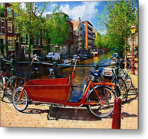 Bike Metal Print featuring the photograph Delivery Bike by Tom Reynen