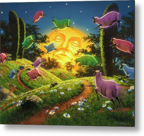 5dmkiv Metal Print featuring the mixed media Dreamland IIi by Mark Mille
