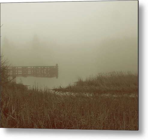 Photograph Metal Print featuring the photograph Early Morning Fog by Susan Schumann