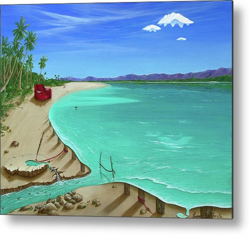Surreal Painting Metal Print featuring the painting Easy Living by Sharon Ebert