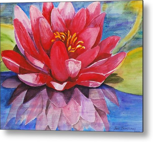 Lily Metal Print featuring the painting Ela Lily by Jun Jamosmos