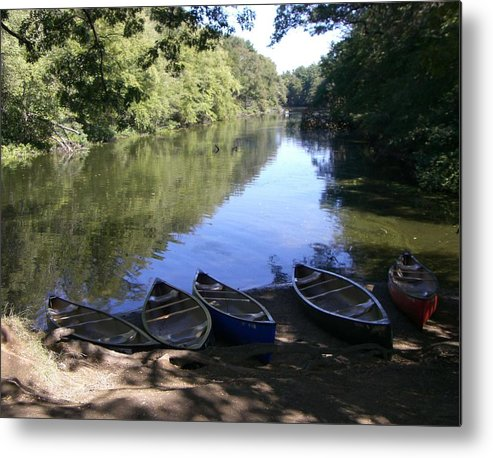 Boats Metal Print featuring the photograph Elm Bank - Boats by Nancy Ferrier